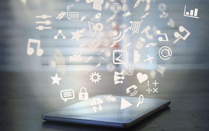 Social icons on an ipad