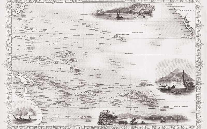 Polynesia Map Alamy