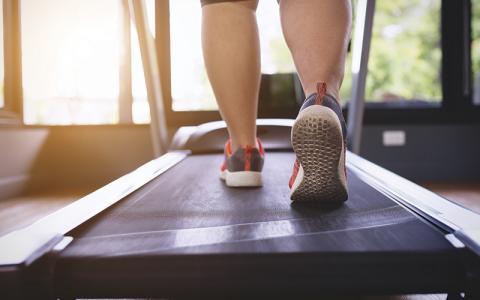 Exercising on Treadmill iStock