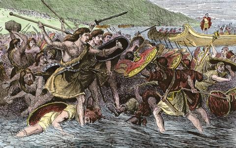 Romans invasion of the Brit Isles Alarmy